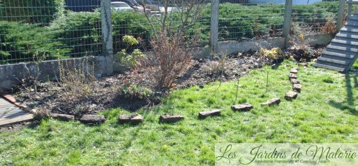 Grignoter la pelouse = dessiner un parterre