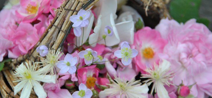 Petit panier de fleurs