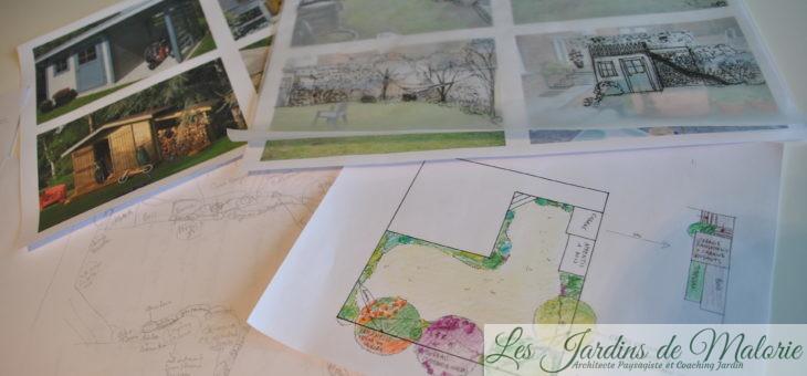 Conception du jardin de Nicolas et Sandrine: tirer le meilleur parti des murs