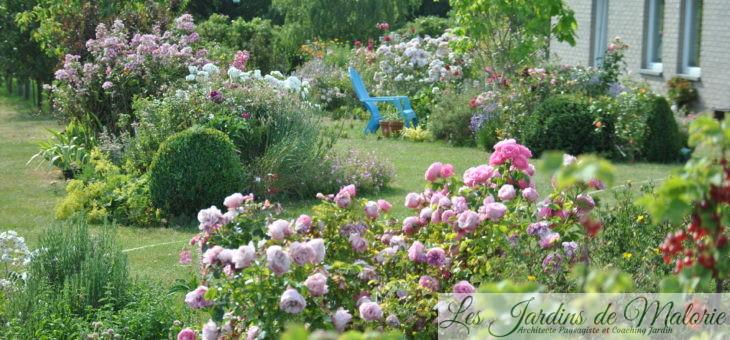 Visite d'un jardin privé à la campagne