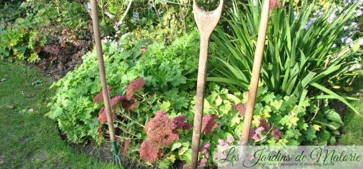 Charrette d'automne au jardin personnel d'André Eve