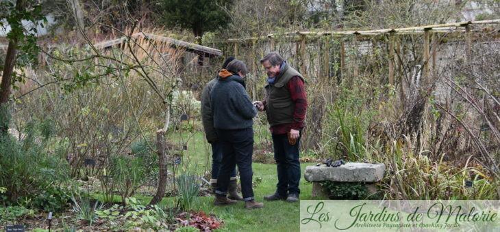 «Charrette» de février au jardin personnel d'André Eve