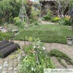 Chroniques de mon jardin : Nouveau gazon en rouleaux